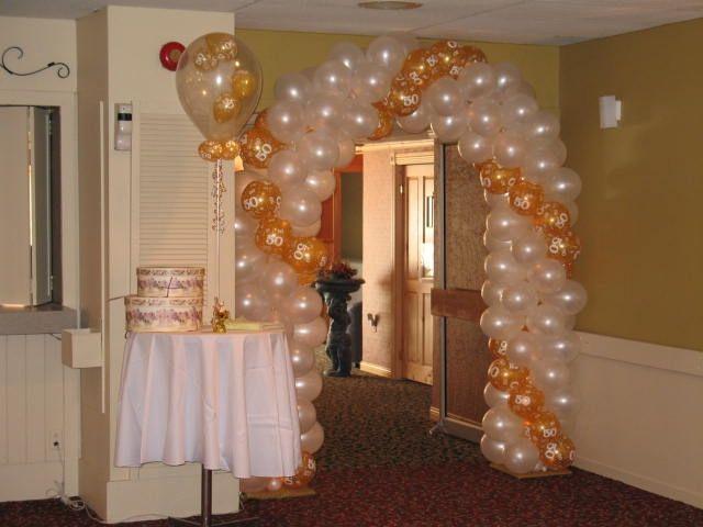 Bodasde oro decoraciones con globos - Decoracion bodas con globos ...